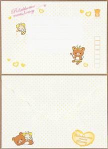 cute rilakkuma bear honey letter set bees letter sets With kawaii stationery letter set