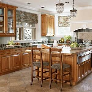 Elegant, Kitchens, With, Warm, Wood, Cabinets