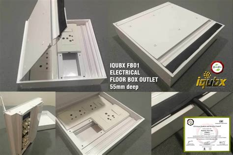 electrical floor box aluminium recessed floor box outlet