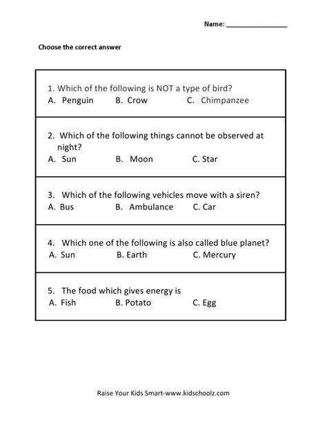 grade 2 general knowledge 1 worksheets worksheet gk