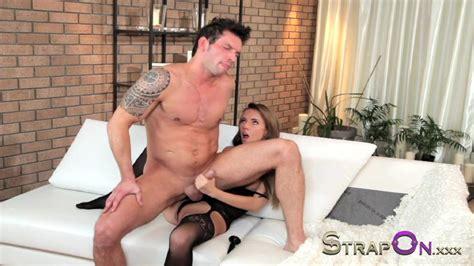 Strapon Brunette Babe Pegging Her Boyfriends Ass Porn C