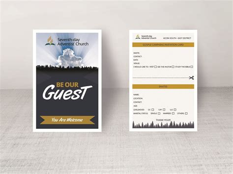 church invitation card  rerdsystems  dribbble