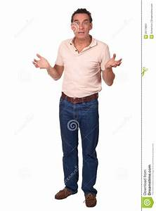 Surprised Shocked Man Holding Up Hands Stock Image - Image ...