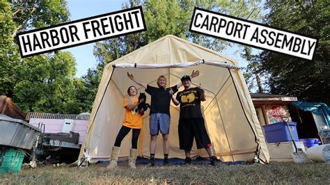 harbor freight carport assembly carports garages