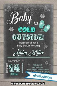 Baby It39s Cold Outside Baby Shower Invitation Printable