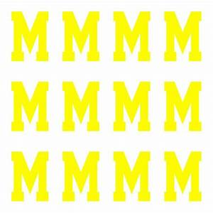 Varsity pro large neon yellow letter m id4gear for Large neon letters
