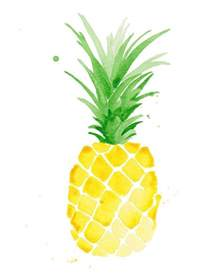 Pineapple Watercolor Painting