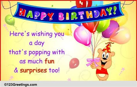 popping  surprise   kids ecards greeting cards