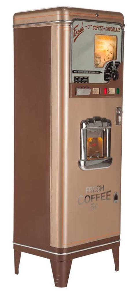 Coin operated table top hot coffee vending machine f303v main features 1. 87089: COIN OPERATED VINTAGE COFFEE VENDING MACHINE 20t