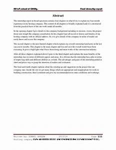 Intern Report Sample  Sample Internship Evaluation Forms