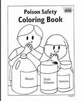 Coloring Sheets Children Teaching Poison Control Material sketch template