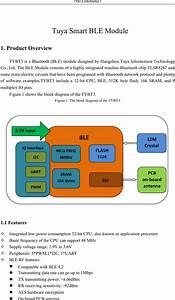 Hangzhou Tuya Information Technology Tybt3 Ble Module User