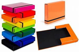 A4 caribic files document box folder elastic band storage for Box documents