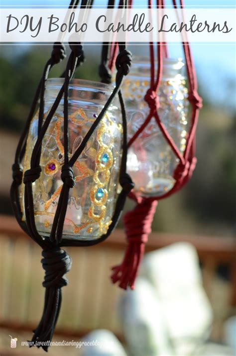 boho room decor diy diy macrame boho candle lanterns yellow bliss road