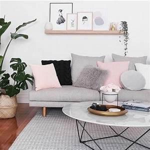 un salon en gris et blanc c39est chic voila 82 photos qui With tapis chambre bébé avec petit canapé pliable