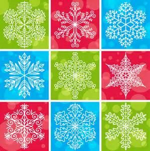 Free Vector Snowflake Pattern