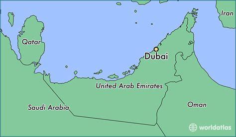 Dubai Lage Karte