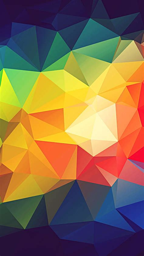 Abstract Cool Geometric Shapes by Colorful Abstract Triangle Shapes Render Iphone 7