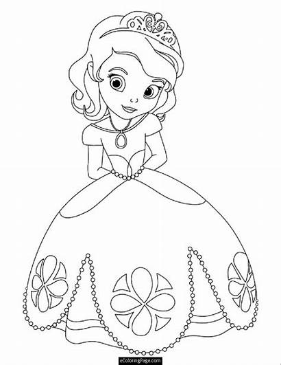 Coloring Pages Princess Easy Printable Disney Getcolorings