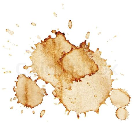coffee stains coffee stains isolated on white background vector illustration stock vector colourbox