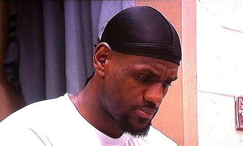 dwyane wade mocks lebron james  wearing  wave cap