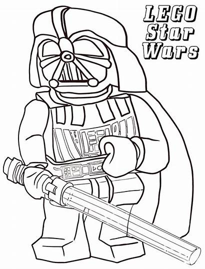 Wars Coloring Lego Star Pages Vader Sheets