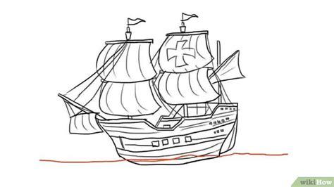 How To Draw A Tudor Boat een schip tekenen wikihow