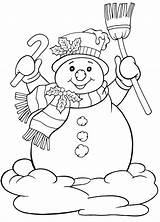 Coloring December Pages Frosty sketch template