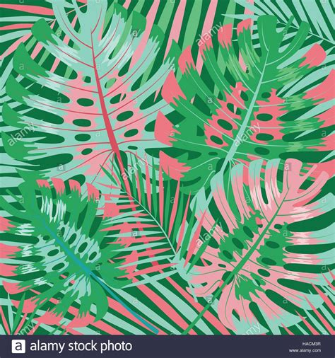 Palm Background Palm Leaves Background Stock Vector Illustration