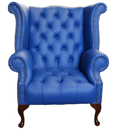 chesterfield buttoned seat high back wing chair