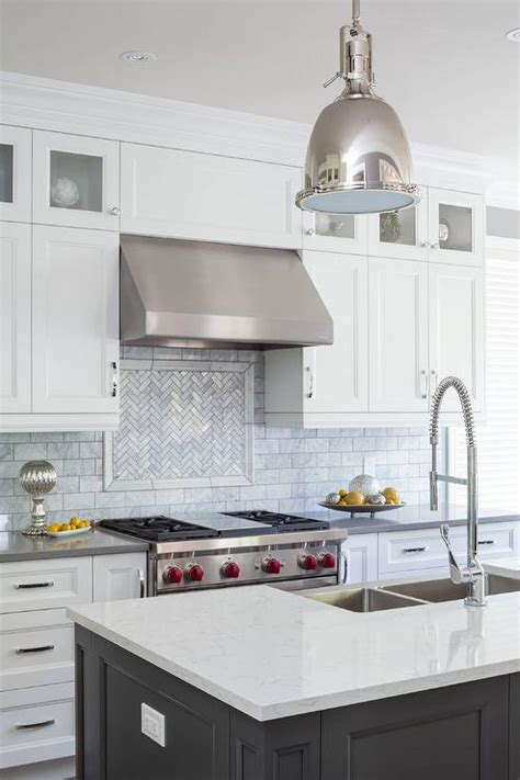 carrera marble subway tiles transitional kitchen