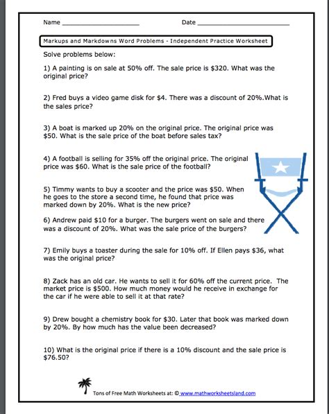 sales tax math problems worksheet worksheets for all