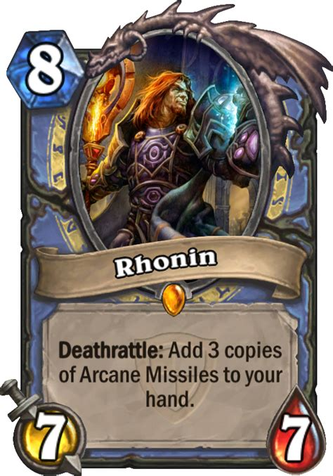 Hearthstone Deathrattle Deck Mage by Rhonin Hearthstone Card