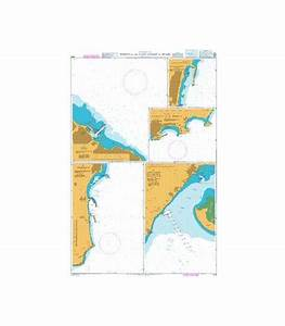 British Admiralty Nautical Chart 1515 Ports On The East
