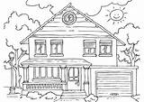 Coloring Exterior sketch template