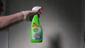 Dettol mould mildew remover youtube for How to get mould off bathroom walls