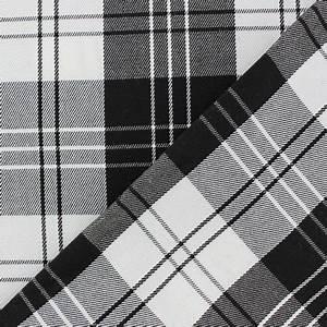Plaid Noir Et Blanc : tissu classic tartan noir et blanc x 10cm ma petite mercerie ~ Dailycaller-alerts.com Idées de Décoration
