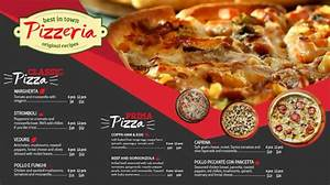 Template For Christmas Invitation Pizza Menu Tv Ad Menu Template Postermywall