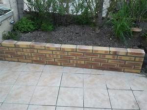Terrasse Avec Muret : r alisation d 39 un muret en biques petit muret ~ Premium-room.com Idées de Décoration