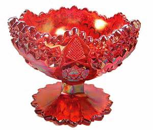 Most Valuable Carnival Glass Red