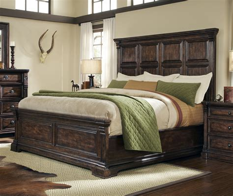 Buy Whiskey Oak California King Panel Bed Weathered