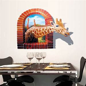 3D Wall Decal Removable Giraffe Wall Stickers Home Wall ...