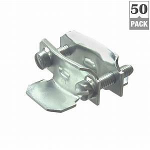 3  4 In  - 1 In  Steel Non-metallic 2-piece Clamp Connectors  50-pack -65110b