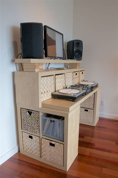 ikea studio desk hack standing desk ikea hack recording studio design ideas
