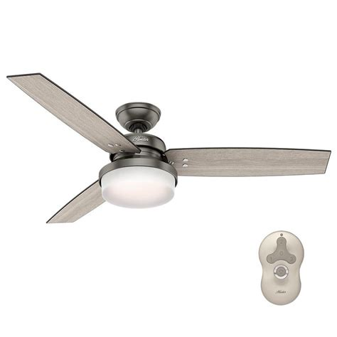 hunter universal ceiling fan hunter sentinel 52 in led indoor brushed slate ceiling