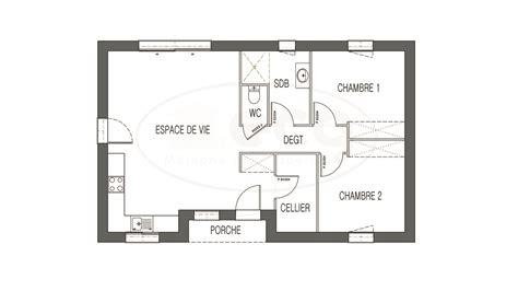 plan maison 2 chambres maison astriée 2 ch