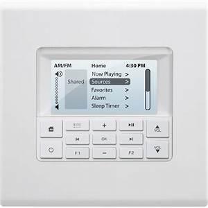 Russound Multiline Display Keypad White Mdk-c6