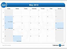 May 2019 Calendar 2018 calendar printable