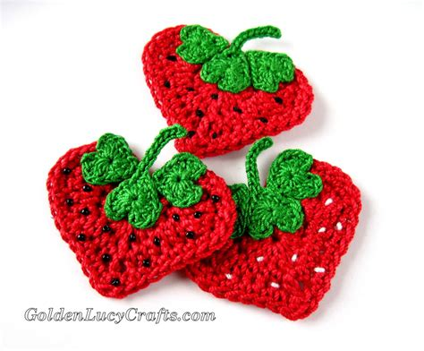 Patterns For Applique by Crochet Strawberry Applique Free Pattern Shaped