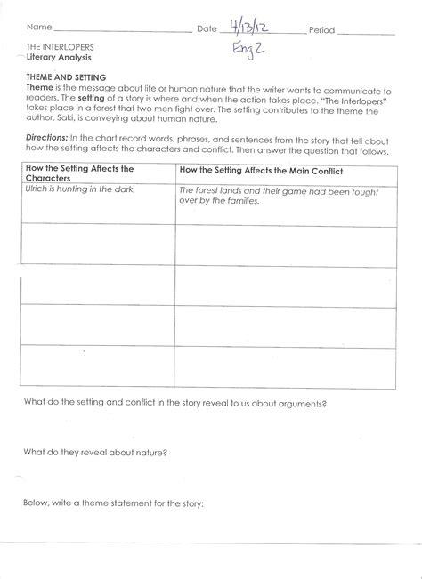 worksheet literary analysis worksheet recetasnaturista